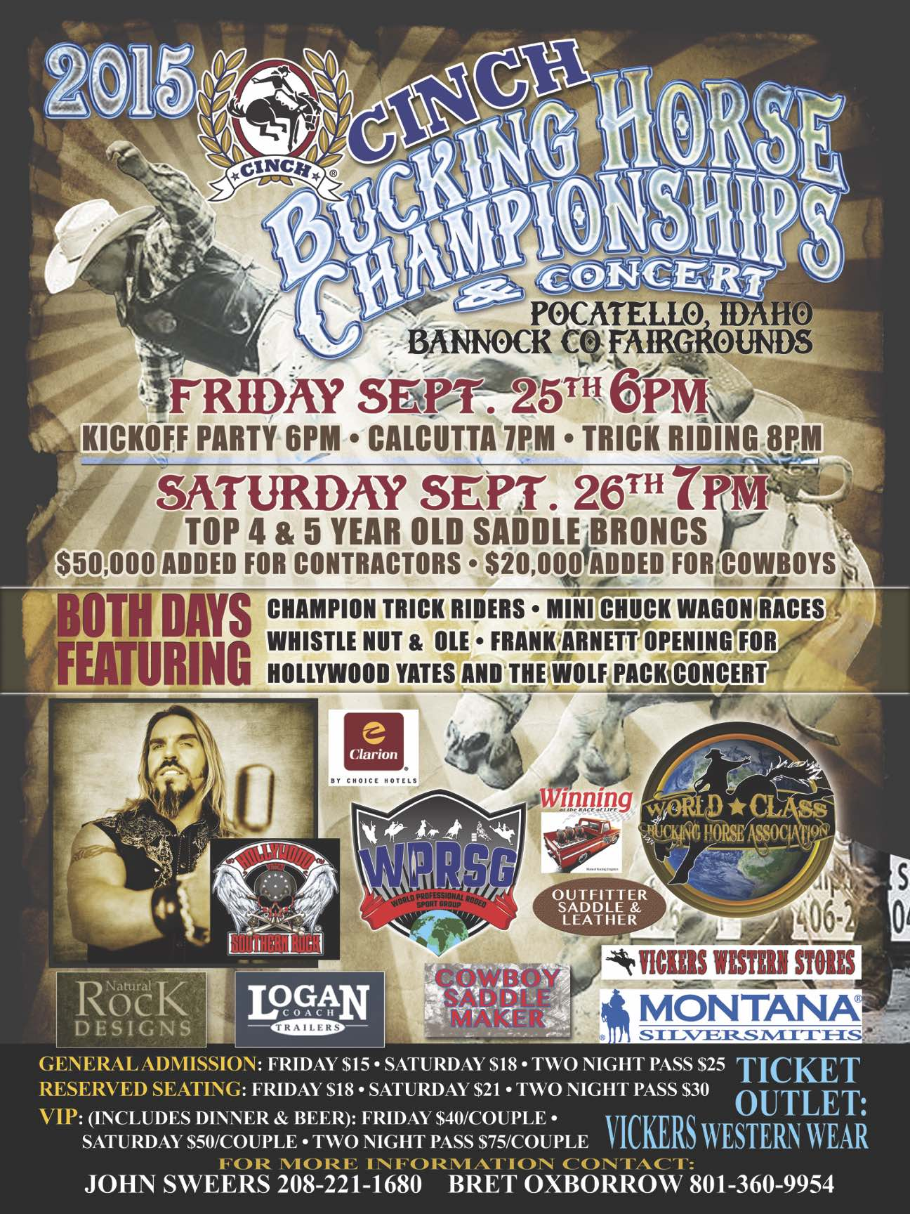 World Class Bucking Horse Finals Poster